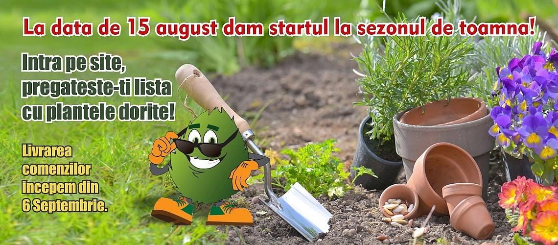 La data de 15 august dam startul la sezonul de toamna!